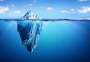 Das Eisberg-Modell der Zusammenhang zwischen Bewusstsein und Unterbewusstsein